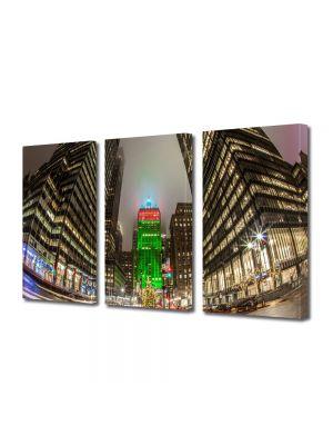 Set Tablouri Multicanvas 3 Piese Craciunul la New York