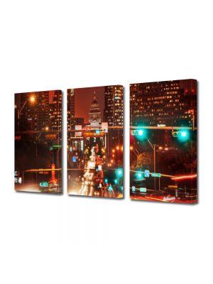 Set Tablouri Multicanvas 3 Piese Austin Texas SUA