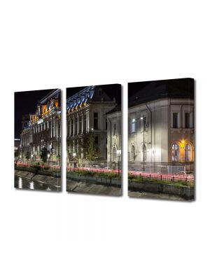 Set Tablouri Multicanvas 3 Piese Palatul Justitiei Bucuresti