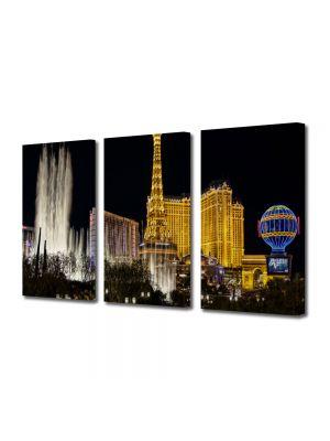 Set Tablouri Multicanvas 3 Piese Las Vegas