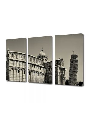 Set Tablouri Multicanvas 3 Piese Turnul din Pisa Italia