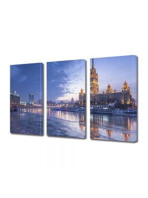 Set Tablouri Multicanvas 3 Piese Hotel Radisson Moscova Rusia