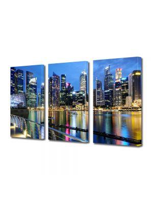 Set Tablouri Multicanvas 3 Piese Singapore