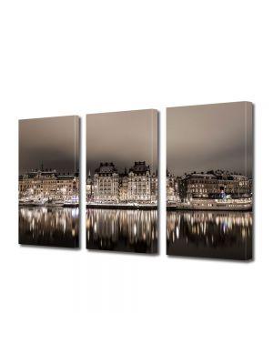 Set Tablouri Multicanvas 3 Piese Stockholm