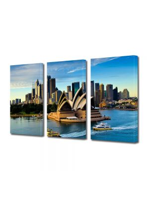 Set Tablouri Multicanvas 3 Piese Opera din Sydney Australia