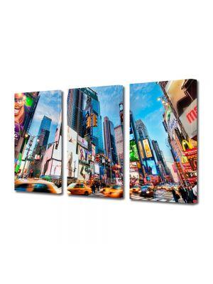 Set Tablouri Multicanvas 3 Piese Times Square New York