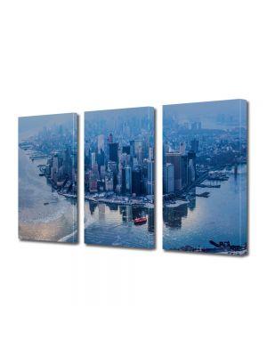 Set Tablouri Multicanvas 3 Piese Manhattan New York City