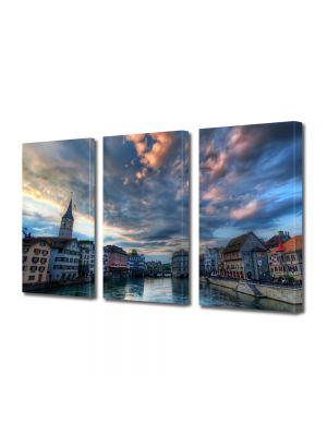 Set Tablouri Multicanvas 3 Piese Zurich Elvetia