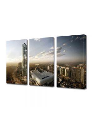 Set Tablouri Multicanvas 3 Piese Skytower Bucuresti