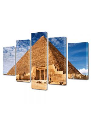 Set Tablouri Multicanvas 5 Piese Piramida Egipteana