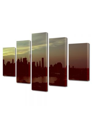 Set Tablouri Multicanvas 5 Piese New York