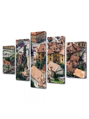 Set Tablouri Multicanvas 5 Piese Biserica Sf Nicolae Brasov
