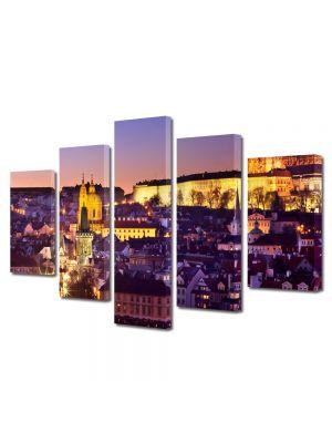 Set Tablouri Multicanvas 5 Piese Orasul Praga