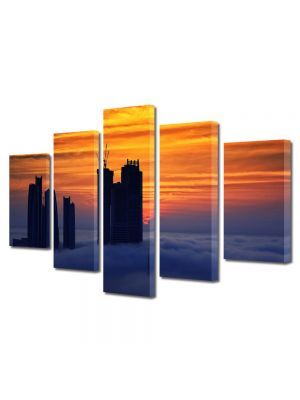 Set Tablouri Multicanvas 5 Piese Abu Dhabi