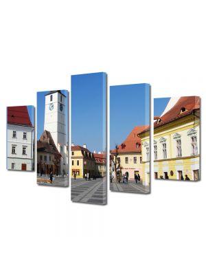 Set Tablouri Multicanvas 5 Piese Sibiu Centru