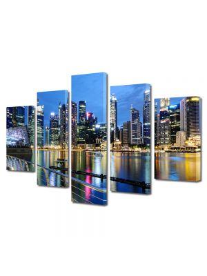 Set Tablouri Multicanvas 5 Piese Singapore