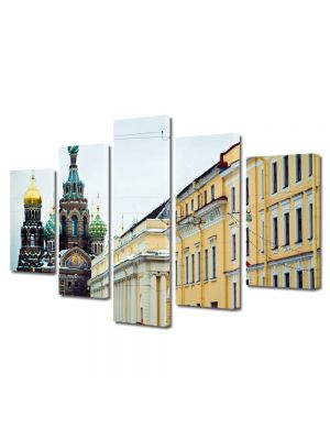 Set Tablouri Multicanvas 5 Piese St Petersburg Russia