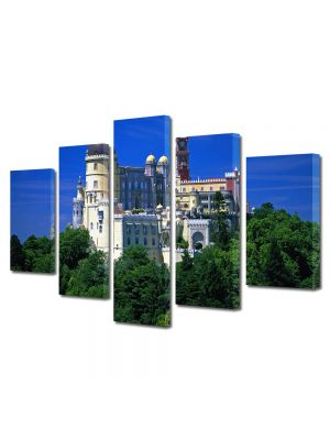 Set Tablouri Multicanvas 5 Piese Palatul National The Pena