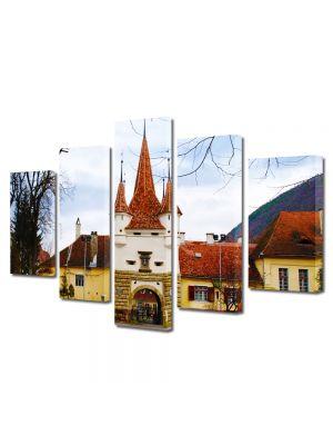 Set Tablouri Multicanvas 5 Piese Poarta Ecaterina in Brasov