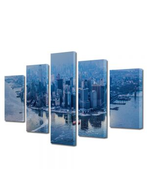 Set Tablouri Multicanvas 5 Piese Manhattan New York City