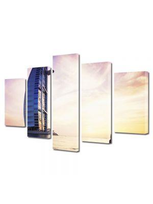 Set Tablouri Multicanvas 5 Piese Burj al Arab in Dubai