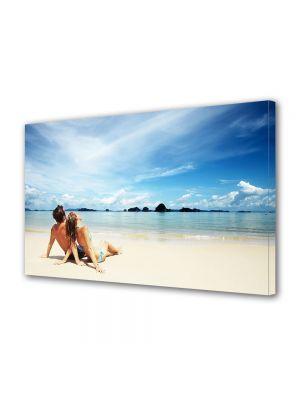 Tablou Canvas Valentine's Day Ziua indragostitilor Impreuna la plaja