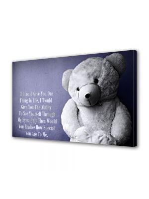 Tablou Canvas Valentine's Day Ziua indragostitilor Ursulet cu mesaj
