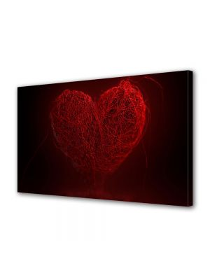 Tablou Canvas Valentine's Day Ziua indragostitilor Inima abstract rosie