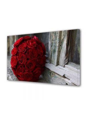 Tablou Canvas Valentine's Day Ziua indragostitilor Buchet la geam