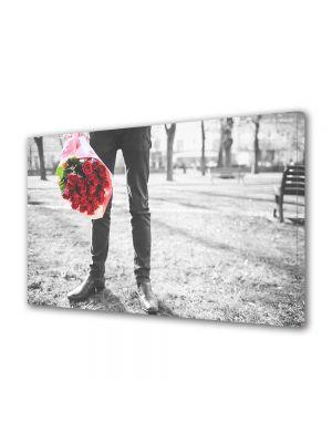 Tablou Canvas Valentine's Day Ziua indragostitilor Te astept cu un buchet