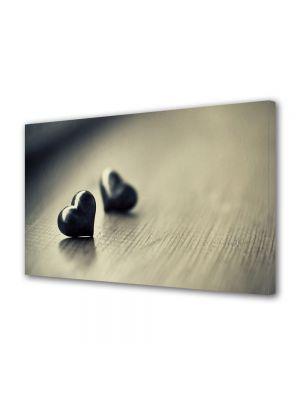 Tablou Canvas Valentine's Day Ziua indragostitilor Inimioare negre