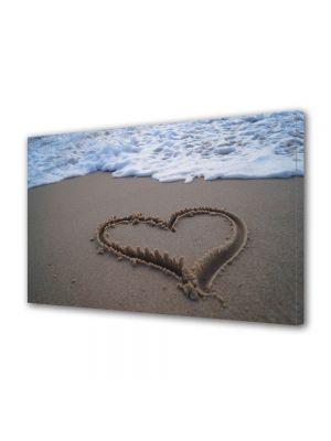 Tablou Canvas Valentine's Day Ziua indragostitilor Inima pe plaja