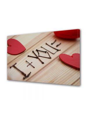 Tablou Canvas Valentine's Day Ziua indragostitilor I + YOU = LOVE
