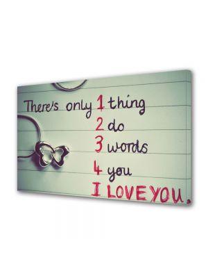 Tablou Canvas Valentine's Day Ziua indragostitilor Mesaj de dragoste
