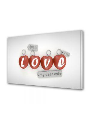 Tablou Canvas Valentine's Day Ziua indragostitilor Breloc cu inimioare