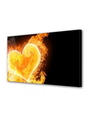 Tablou Canvas Valentine's Day Ziua indragostitilor Inima in flacari