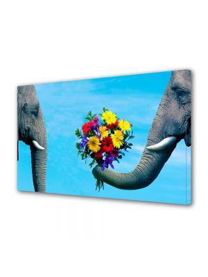 Tablou Canvas Valentine's Day Ziua indragostitilor Elefanti indragostiti