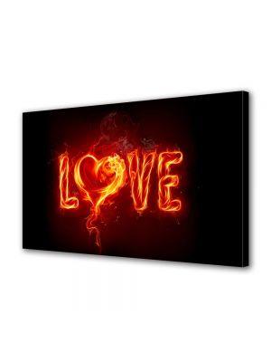 Tablou Canvas Valentine's Day Ziua indragostitilor Abstract Foc