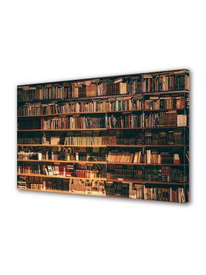 Tablou Canvas Luminos in intuneric VarioView LED Vintage Aspect Retro Biblioteca de vis