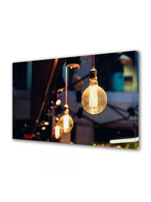 Tablou Canvas Luminos in intuneric VarioView LED Vintage Aspect Retro Instalatie retro