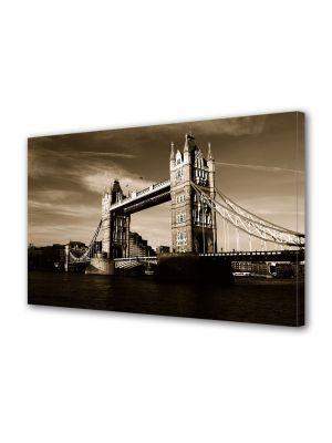 Tablou Canvas Luminos in intuneric VarioView LED Vintage Aspect Retro Tower Bridge in Londra