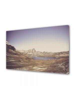 Tablou Canvas Luminos in intuneric VarioView LED Vintage Aspect Retro Lac glaciar