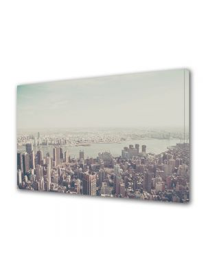 Tablou Canvas Luminos in intuneric VarioView LED Vintage Aspect Retro Panorama New York