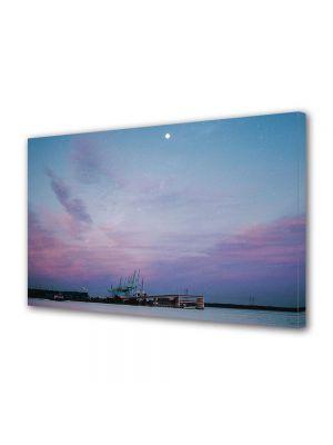 Tablou Canvas Luminos in intuneric VarioView LED Vintage Aspect Retro Cer instelat violet
