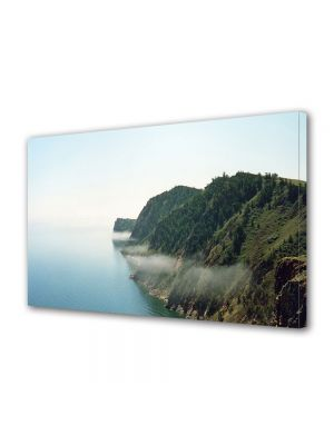 Tablou Canvas Luminos in intuneric VarioView LED Vintage Aspect Retro Muntele intalneste marea