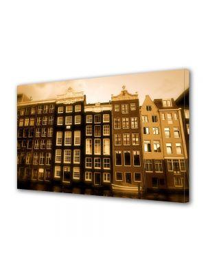 Tablou Canvas Vintage Aspect Retro Case olandeze