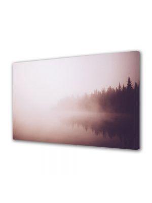 Tablou Canvas Luminos in intuneric VarioView LED Vintage Aspect Retro Ceata pe lac
