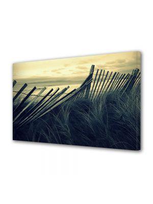 Tablou Canvas Vintage Aspect Retro Gard de lemn pe plaja