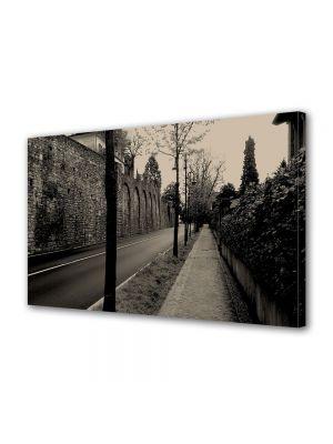 Tablou Canvas Vintage Aspect Retro Strada pustie