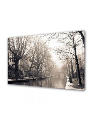 Tablou Canvas Vintage Aspect Retro Canal in ceata diminetii